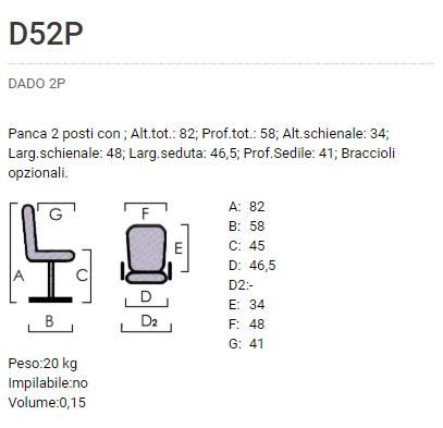Sedute DADO 2 P