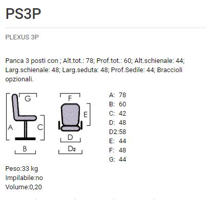 Sedute Plexus 3P