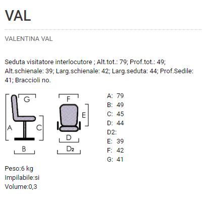 Sedia Valentina VAL